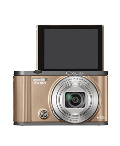 CASIO デジタルカメラ EXILIM EX-ZR1700GD 自分撮りチルト液晶 オートトランスファー機能 Wi-Fi/Bluetooth搭載 ゴールド