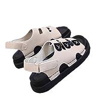 [エージョン] レディース サンダル フラット ビーチ靴 カジュアル 大きいサイズ スポーツ 妊婦 ファッション ベージュ37