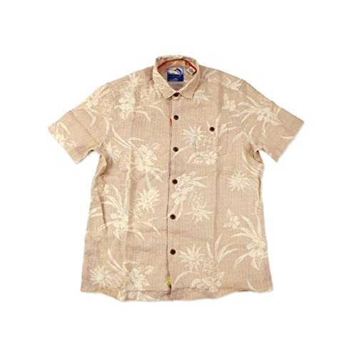 【トミーバハマ(Tommy Bahama)】 半袖 アロハシャツ パイナップルポイント ベージュ XL