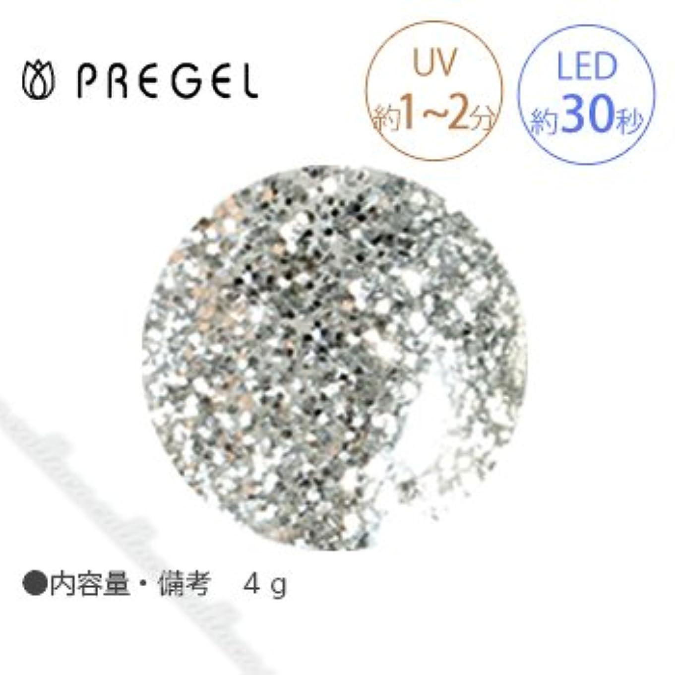 で出来ているエクステント知らせる【PREGEL】 プリジェル カラーEX ダイヤモンドシリーズ ダイヤモンドシルバー PG-CE400 4g