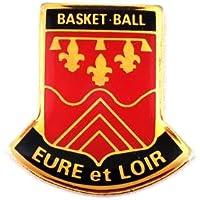 限定 レア ピンバッジ バスケットボールのチーム赤ウール=エ=ロワール県の百合の紋章 ピンズ フランス
