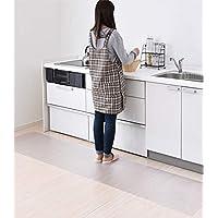 キッチンマット 台所マット PVC 60×240cm SALLOUS 大判 厚さ1.5mm 床保護マット クリアマット 滑り止め ソフトタイプ カット可能 デスクマット 透明マット 撥水 フロアマット 床暖房使用可能