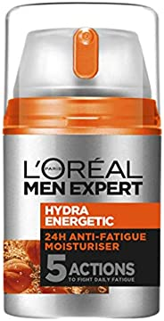 L'Oréal Paris Men Expert Hydra Energetic Moisturiser For Men, for Dry and Tired Skin, with Guarana and Vit