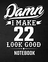 Damn I Make 22 Look Good Notebook: Funny Birthday Notebook - Blank Line Composition Notebook and Journal for 22nd Birthday Gift: Funny Birthday Quote (8.5 X 11 - 110 Pages)