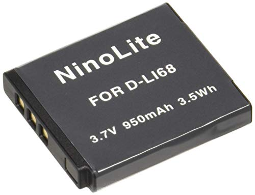 NinoLite D-LI68 D-LI122 NP-50 互換 バッテリー 2個セット ペンタックス等対応 dli68x2_t.k.gai