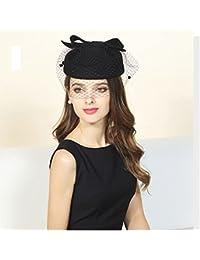 【ノーブランド品】 レディースロングベールトーク帽