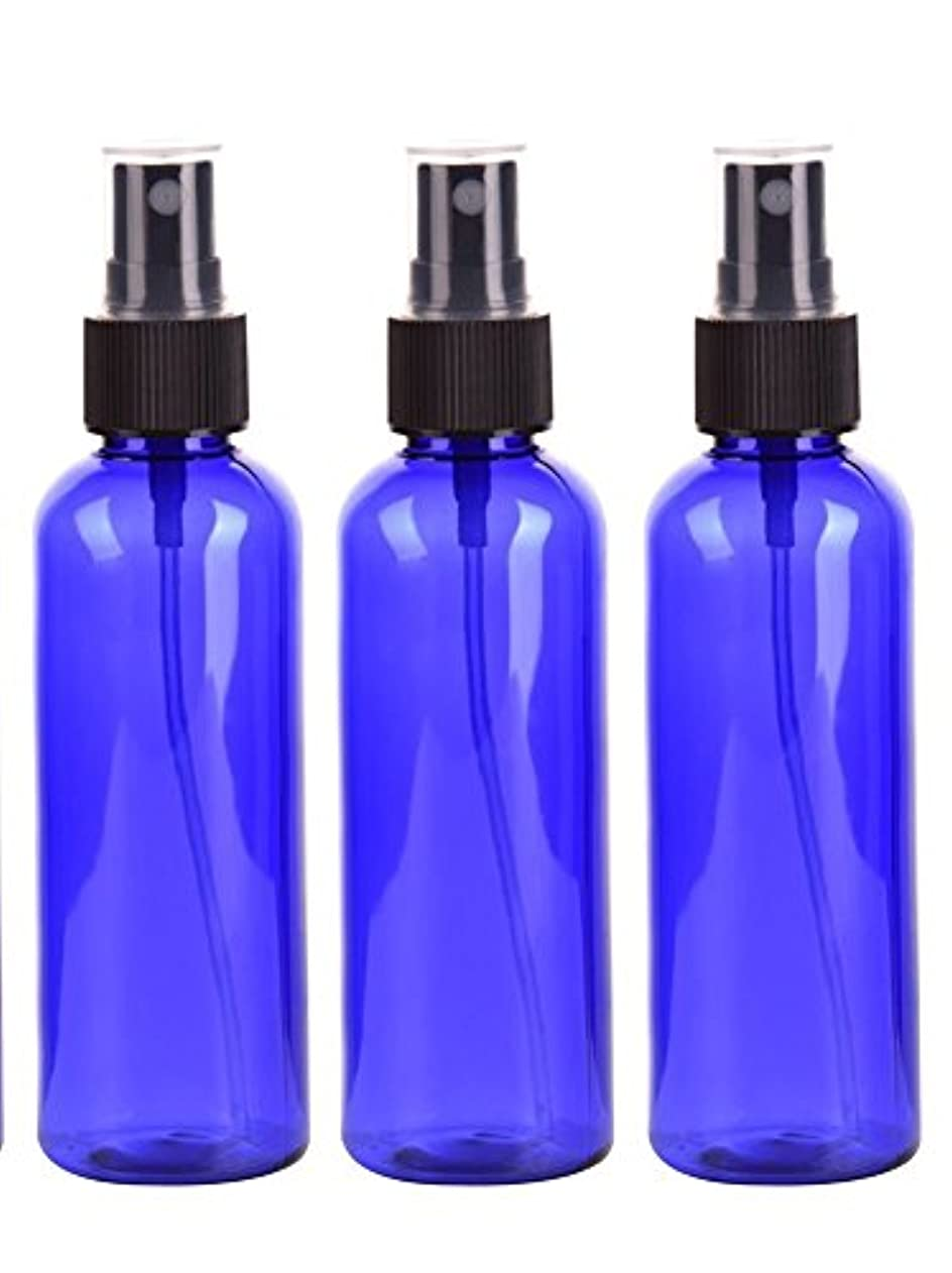 田舎パラダイス黒くするスプレーボトル 50mL ブルー黒ヘッド プラスチック空容器 3本セット (青)