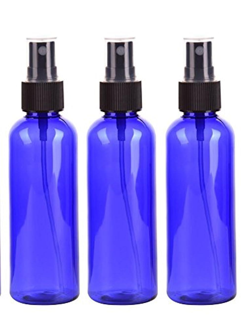 排泄する何もない危機スプレーボトル 50mL ブルー黒ヘッド プラスチック空容器 3本セット (青)