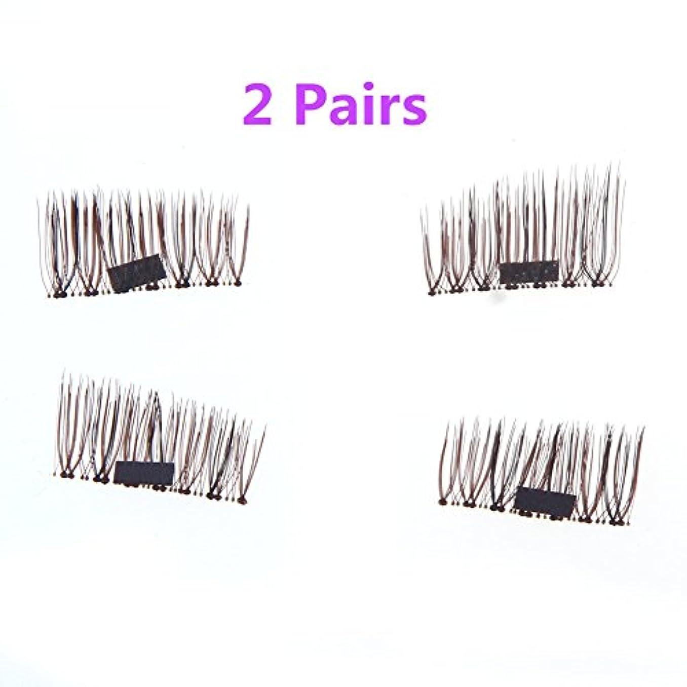 胸突撃サイトCozyrom 2ペアセット つけまつげ 磁気 3D マグネット 付け睫毛 Magnet eyelashes 磁性 長い 再利用可能 濃密 簡単に装着 手作り