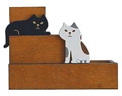 DECOLE miranda 階段猫 ペンスタンド ZMR-82875