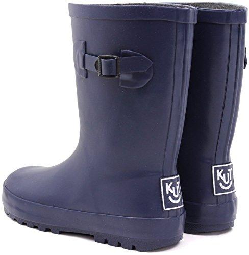 (ノーブランド品) 長靴 キッズ ジュニア レインブーツ 男の子 女の子 子供長靴 22cm【即納】 【85.ネイビー】