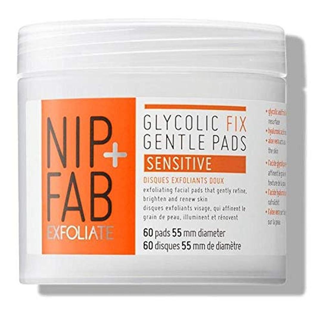 せっかち永遠に古代[Nip & Fab] + Fabグリコール修正穏やかパッド80ミリリットルニップ - Nip+Fab Glycolic Fix Gentle Pads 80ml [並行輸入品]