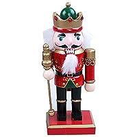 Tomoyou ソルジャー形状くるみ割り人形 伝統的な木製クリスマスくるみ割り人形 棚やテーブルに最適 8インチ b tomoyou123