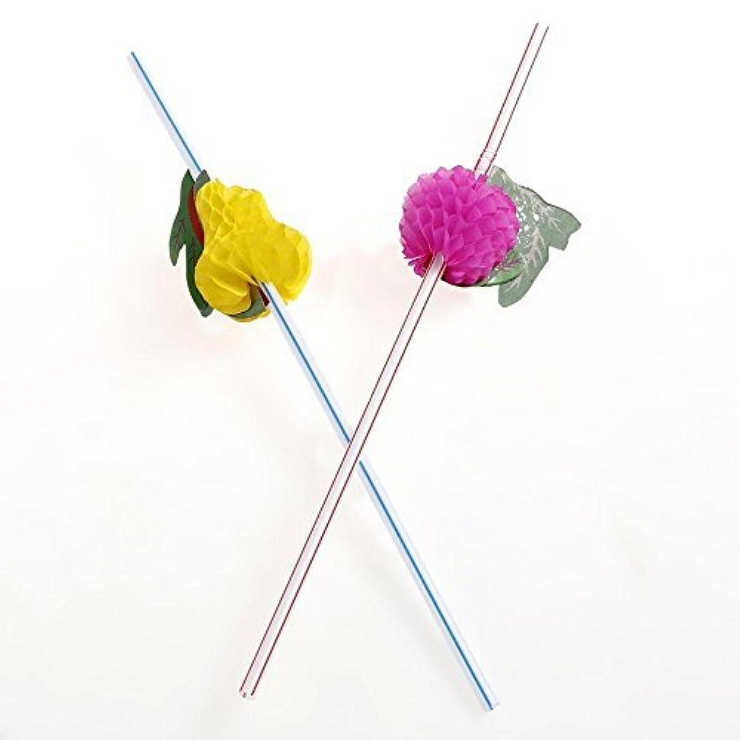 ペン同行穏やかな誕生日パーティーのための各種ストローの果実