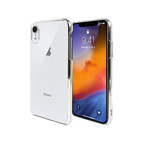 iPhone XR 6.1 インチ スマホケース クリア カバー 耐衝撃 薄型 シンプル 高光沢 軽量 保護 ハード ポリカーボネート ストラップホール付 【Provare】 (iPhoneXR, クリア)