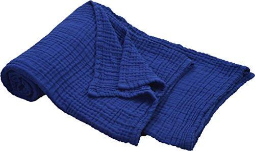 京都西川 タオルケット・ガーゼケット コン シングル 140×190cm 綿100% 洗える やわらか 3重ガーゼ くしゅくしゅ 収縮 2AJ2804