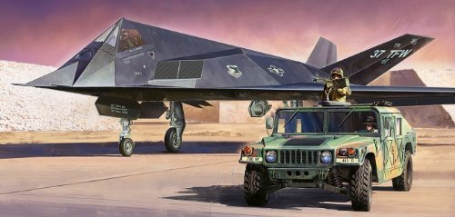 スケール限定シリーズ F-117A ナイトホーク・多用途装輪車セット 89773