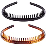 Solustre 2Pcs Tooth Hair Comb Headband Hair Bands Headbands Hair Accessory For Women Girls