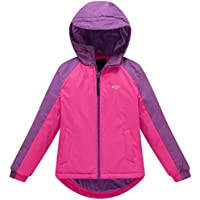 Wantdo Girl's Windproof Waterproof Raincoat Hooded Ski Fleece Ski Jacket