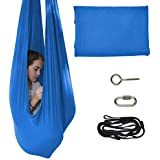 TOPARCHERY Indoor Therapy Swing for Kids Child and Teens w/More Special Needs, Cuddle Hammock Ideal for Autism, ADHD, Aspergers and Sensory Integration Snuggle Swing Hammocks (Blue)