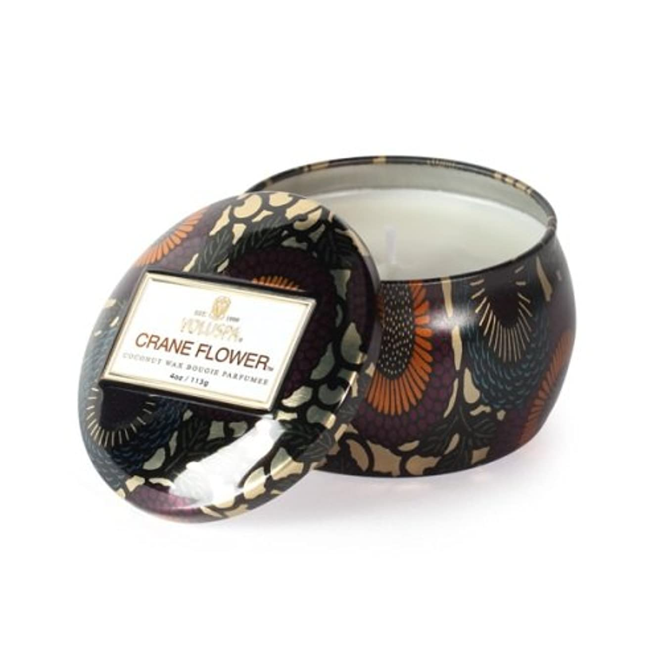 愛情深いタンザニア不測の事態Voluspa ボルスパ ジャポニカ ティンキャンドル S クレーンフラワー JAPONICA Tin Candle CRANE FLOWER