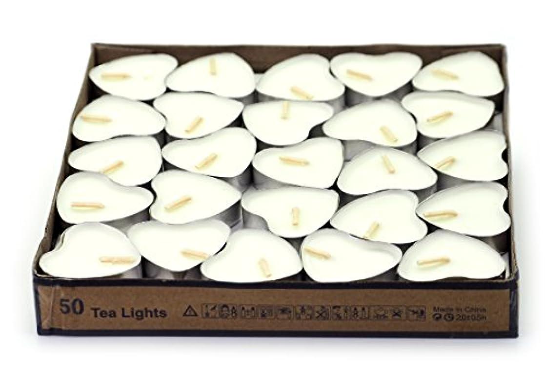(White(jasmine)) - Creationtop Scented Candles Tea Lights Mini Hearts Home Decor Aroma Candles Set of 50 pcs mini...