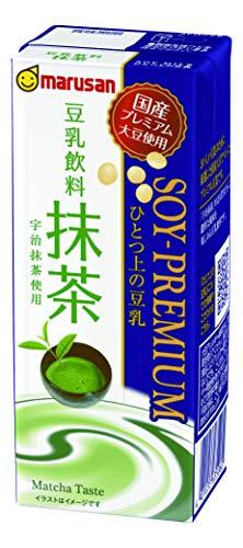 マルサン ひとつ上の豆乳 豆乳飲料 抹茶 200ml ×24本