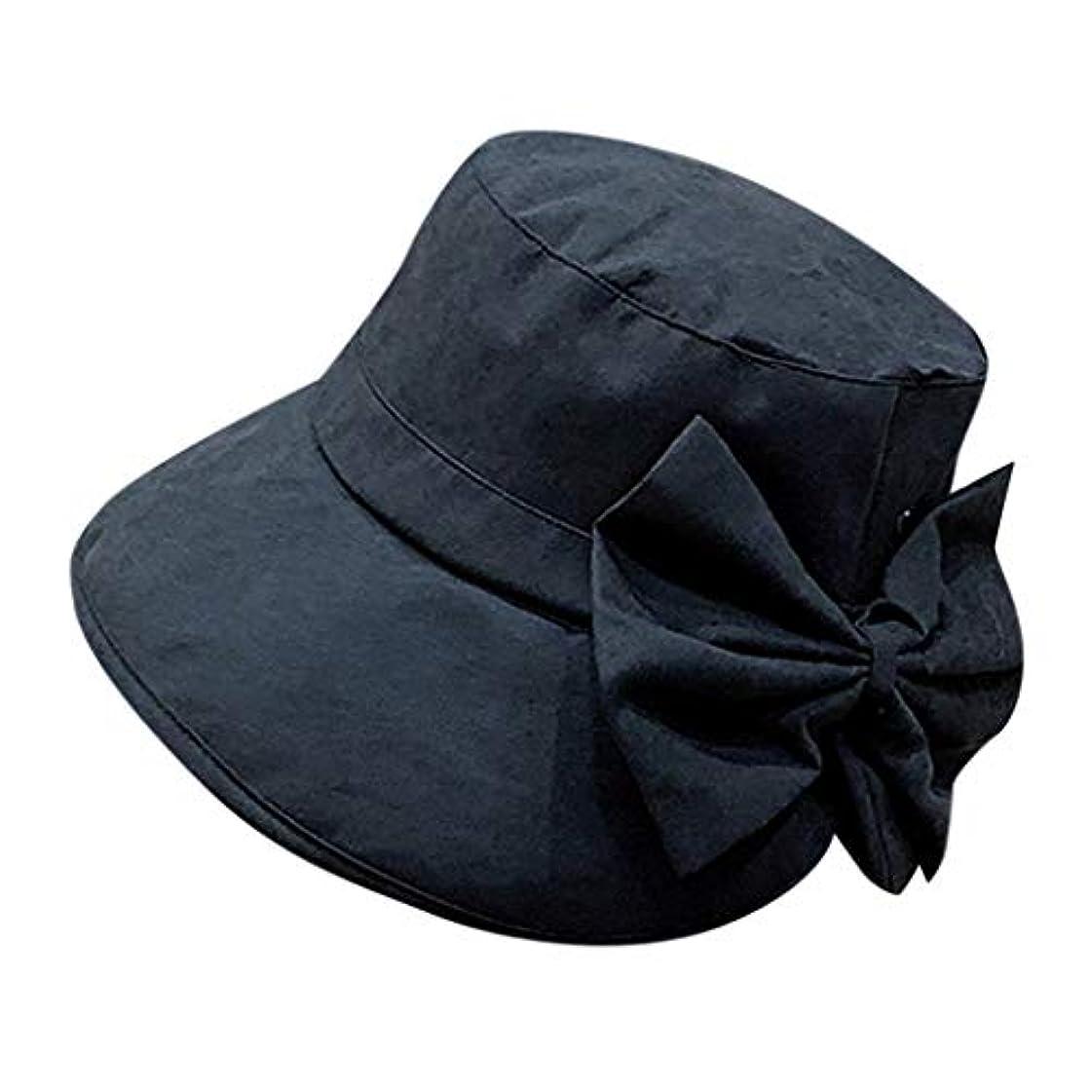 不測の事態大臣リーチ女性 帽子 レディース UVカット ハット女の子 つば広い 漁師帽 女優帽 小顔効果 紫外線 対策 レディース 蝶結び UV 加工 リボン ハット ビーチ 日よけ テント ビーチサンダル ベレー帽 ROSE ROMAN