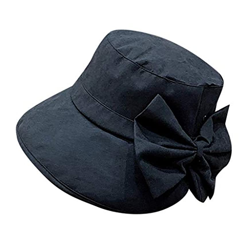 処理雷雨食料品店女性 帽子 レディース UVカット ハット女の子 つば広い 漁師帽 女優帽 小顔効果 紫外線 対策 レディース 蝶結び UV 加工 リボン ハット ビーチ 日よけ テント ビーチサンダル ベレー帽 ROSE ROMAN