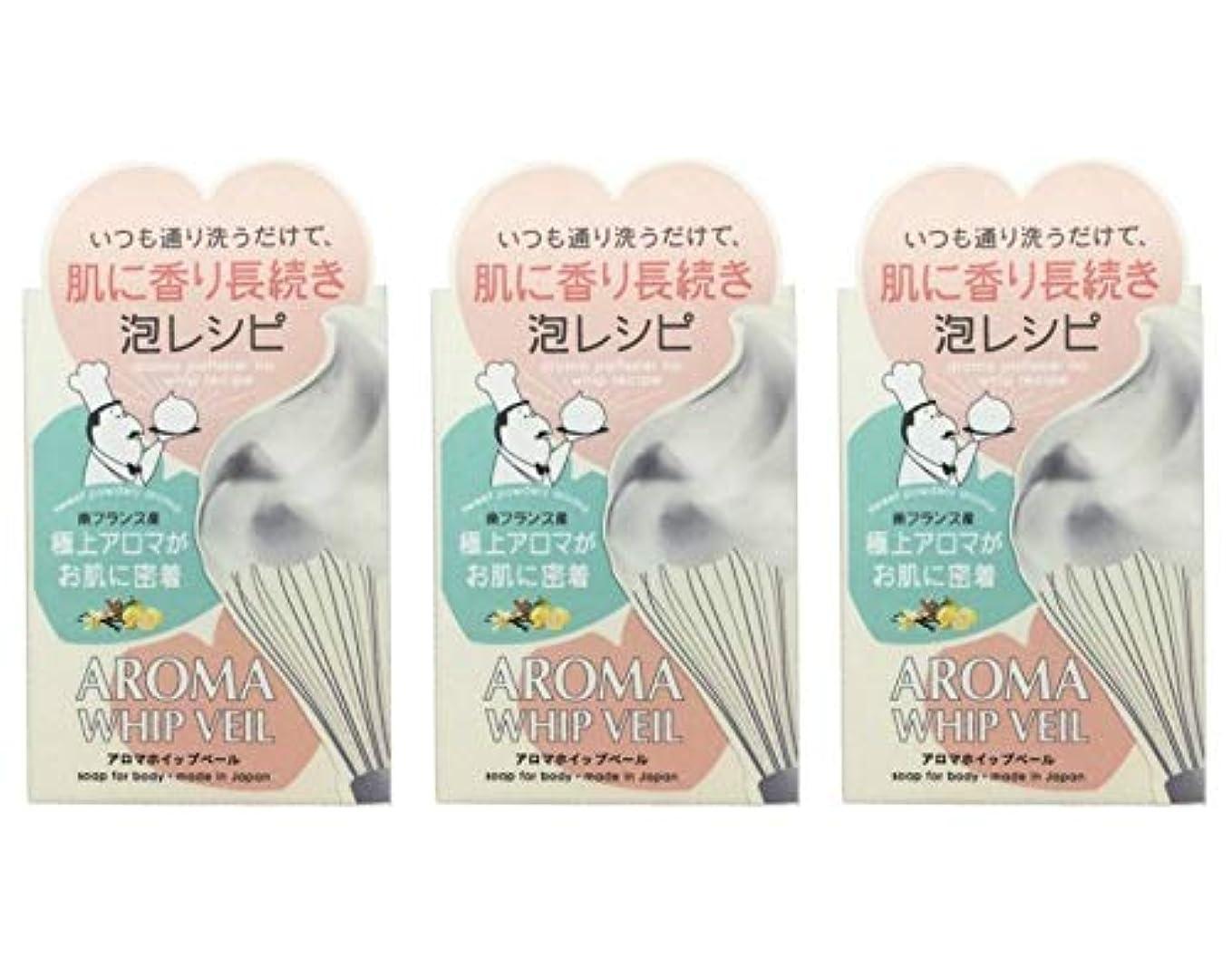 知恵統計的保証金【3個セット】ペリカン石鹸 アロマホイップベール石鹸 100g【3個セット】