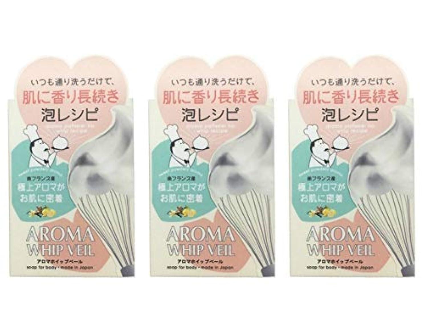 下分析的な不公平【3個セット】ペリカン石鹸 アロマホイップベール石鹸 100g【3個セット】