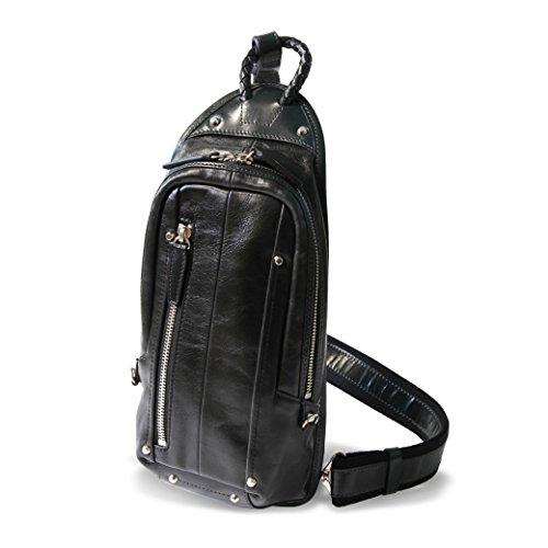 ca- KFN1611C-matsu ボディバッグ Kiefer neu キーファーノイ バッグ Ciao チャオ シリーズ 本革イタリアン ワンショルダー ボディーバッグ No.KFN1611C 10 ブラック(Black)