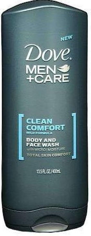 不公平懲らしめそのようなDove Men+care Body and Face Wash 13.5 Oz (400 Ml) by Dot Foods-Unilever Hpc [並行輸入品]
