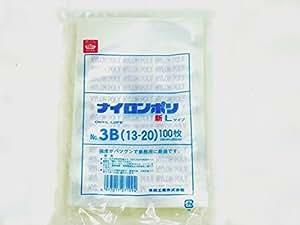 真空袋 ナイロンポリ 新Lタイプ No3B  (130mm×200mm) 【100枚入】