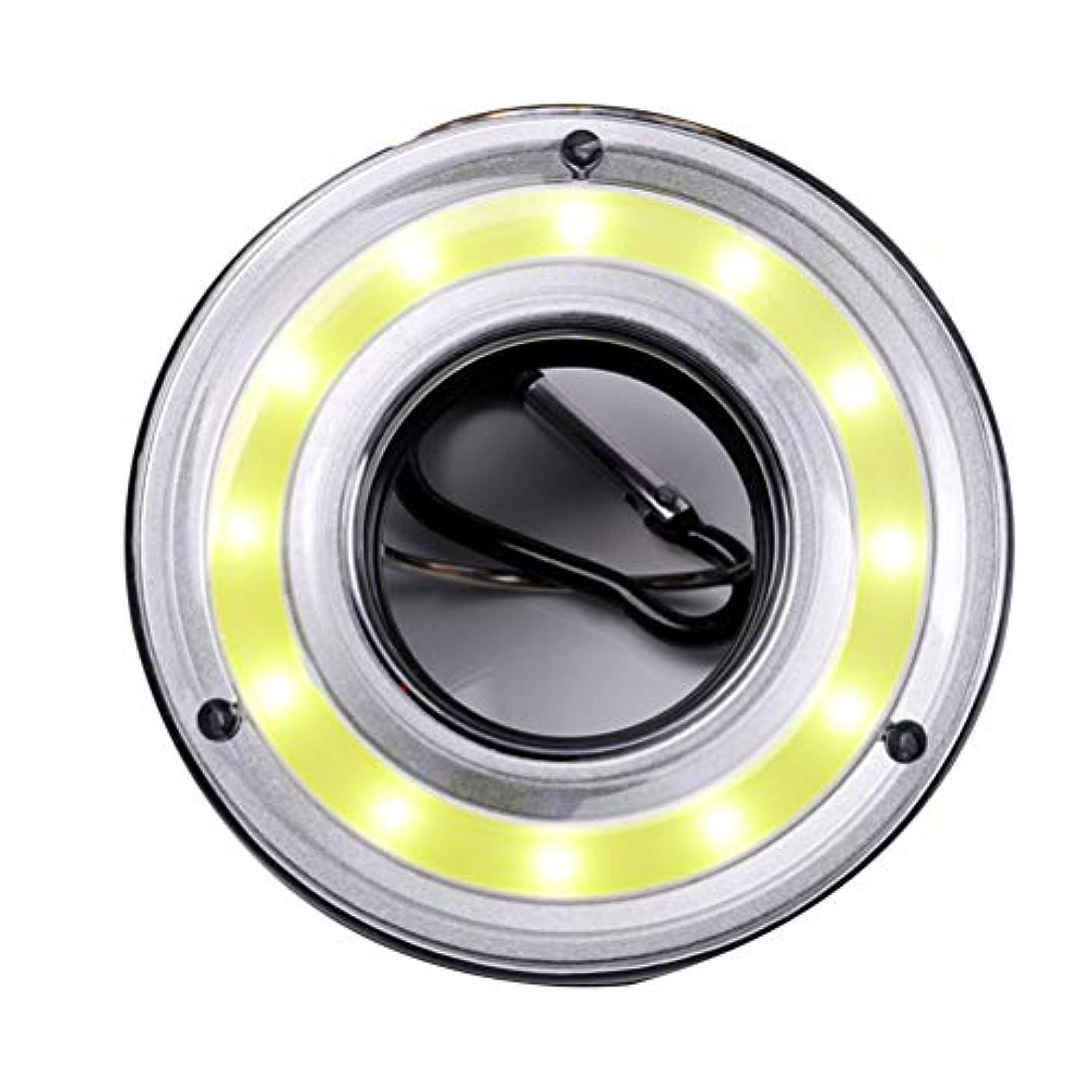 オッズ歩行者渦LIOOBO Ledポータブルテントランプミニ屋外釣り夜懐中電灯トーチランプ旅行カラビナフックライトバッテリーなし
