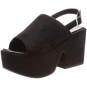 [ウィゴー] レディースファッションサンダル 厚底ミュールサンダル ブラック 24.0~24.5 cm