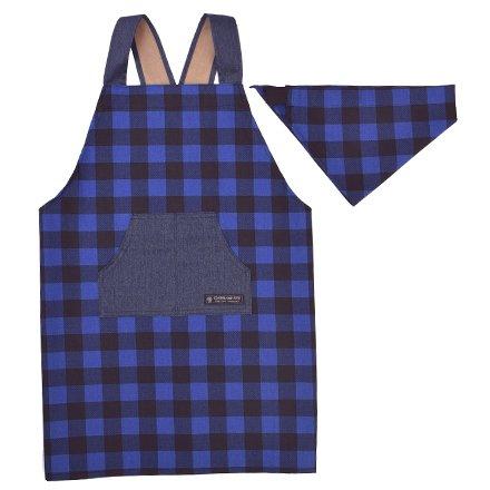 バッククロスエプロン100-120 三角巾付き 子供用 バッ...