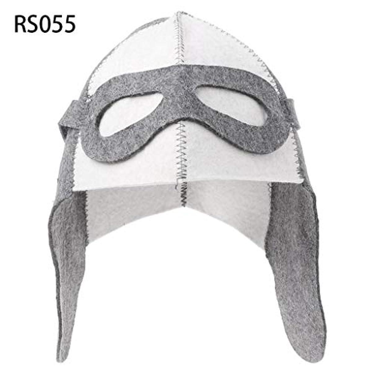 知的もつれまっすぐLANDUMのウールのフェルトのサウナの帽子、浴室の家の頭部の保護のための反熱ロシアのバニヤ帽子