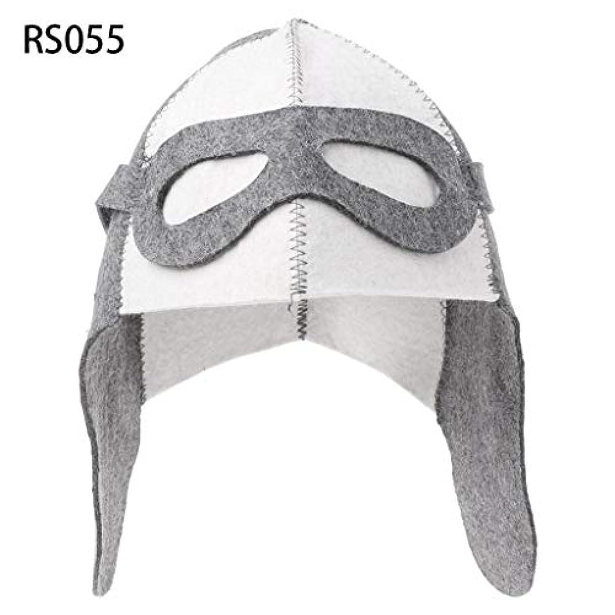 メンダシティドル調和のとれたLANDUMのウールのフェルトのサウナの帽子、浴室の家の頭部の保護のための反熱ロシアのバニヤ帽子