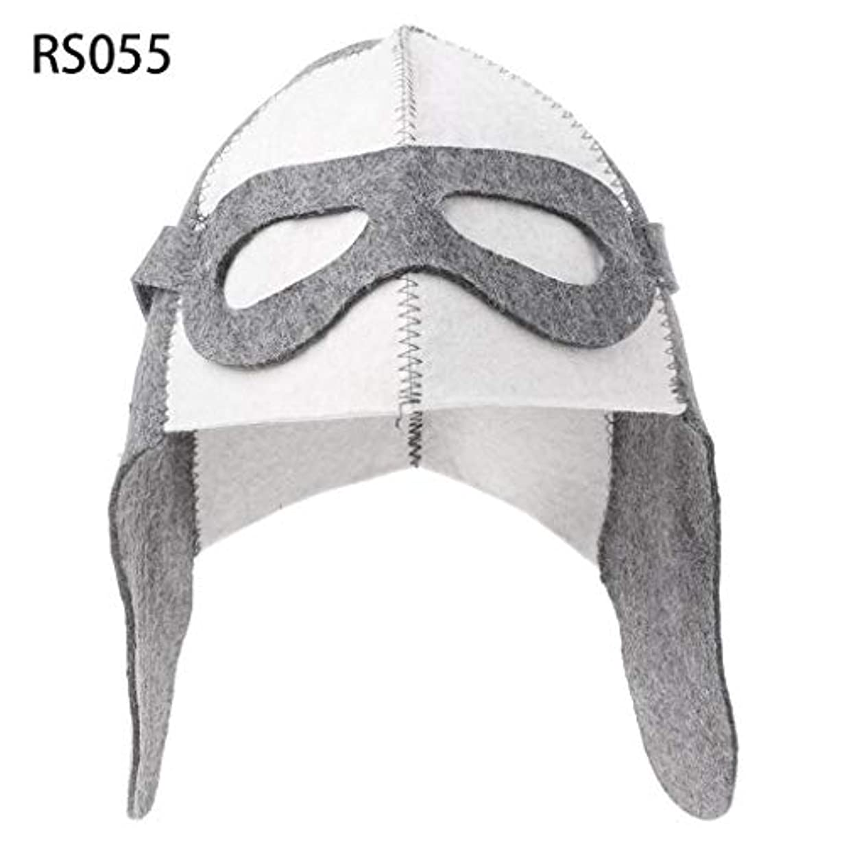 アンデス山脈騒乱トラブルLANDUMのウールのフェルトのサウナの帽子、浴室の家の頭部の保護のための反熱ロシアのバニヤ帽子