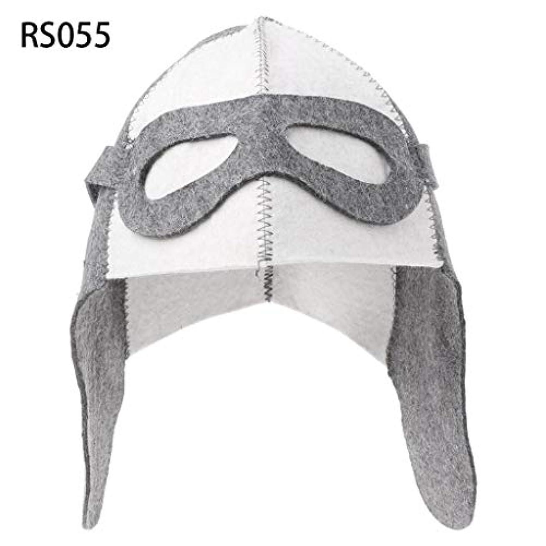文字テンションラグLANDUMのウールのフェルトのサウナの帽子、浴室の家の頭部の保護のための反熱ロシアのバニヤ帽子