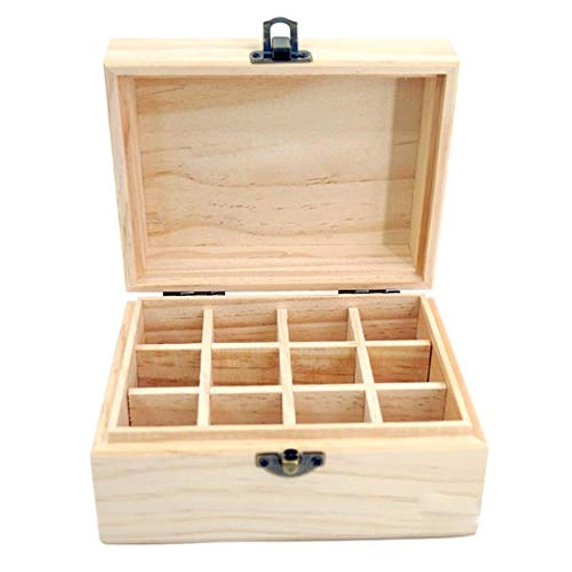 復讐ベジタリアン運命的なアロマセラピー収納ボックス 12スロットは、あなたが油木製収納ボックスのオイルのセキュリティを保護することができます エッセンシャルオイル収納ボックス (色 : Natural, サイズ : 15X11.5X8CM)