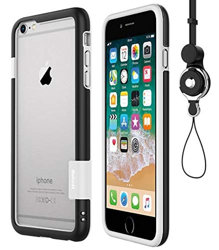 翻訳する大いに処方する[WOEXET] iPhone 6/iphone 6s用バンパーとストラップセット ストラップ付きケース カラビナ 落下防止 モバイル 携帯ストラップ ネックストラップ スマホ用ストラップ ブラック