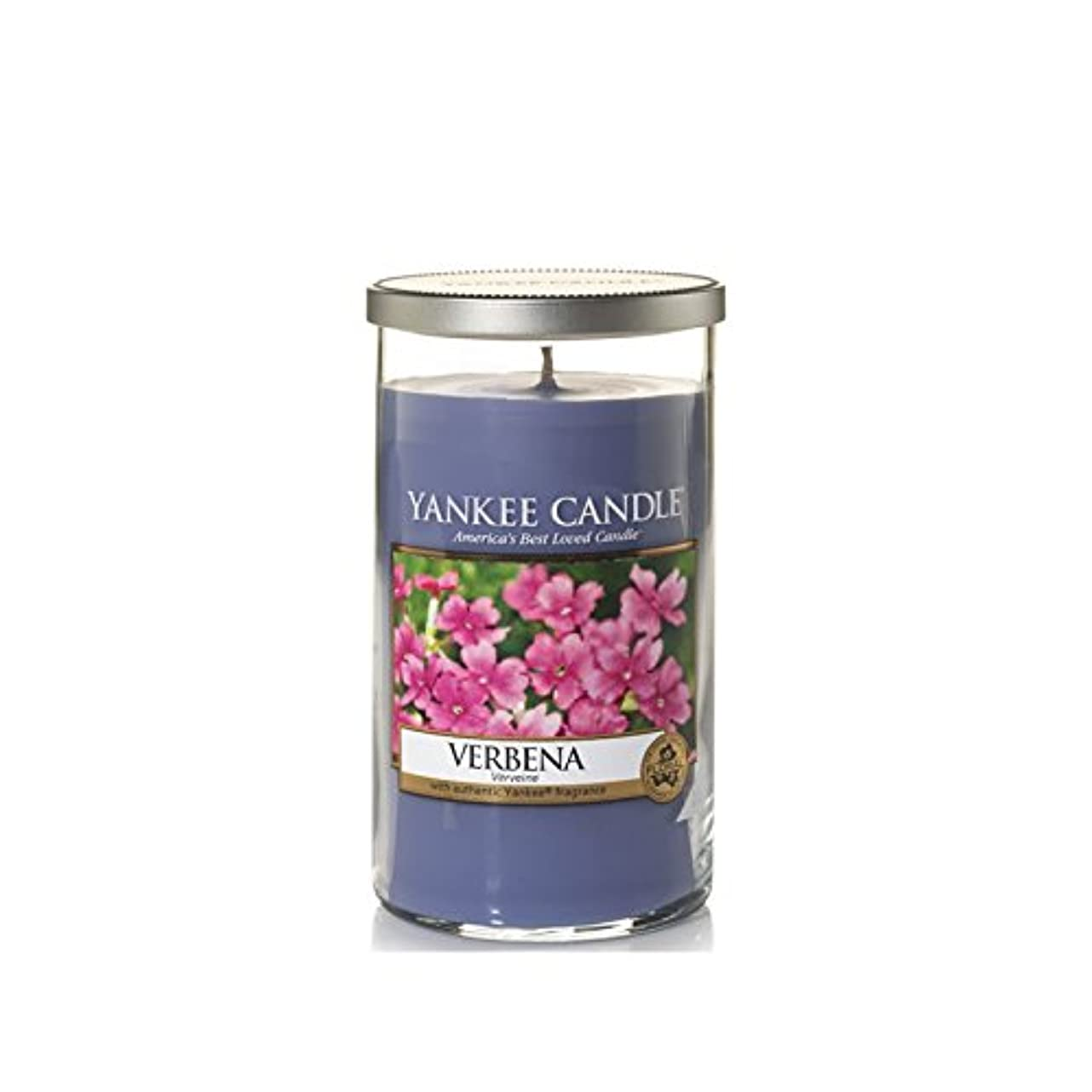 そこからティーンエイジャー壮大Yankee Candles Medium Pillar Candle - Verbena (Pack of 2) - ヤンキーキャンドルメディアピラーキャンドル - バーベナ (x2) [並行輸入品]