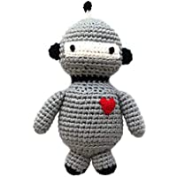 Cheengoo持続可能な有機竹手カギ針編みRattle – ロボット