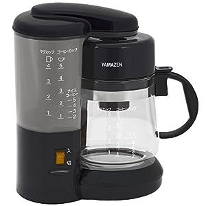 山善(YAMAZEN) コーヒーメーカー 650ml(5カップ) ブラック YCA-500(B)