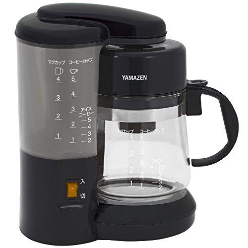 山善 コーヒーメーカー 650ml(1〜5カップ用) ブラック YCA-500(B)