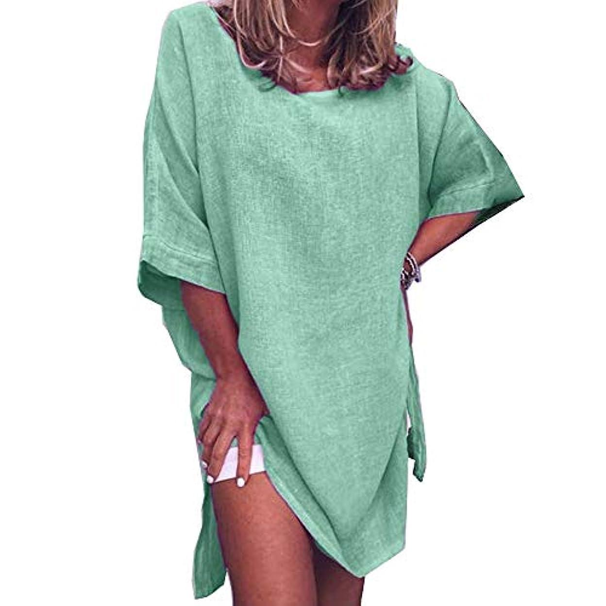 作物話す勧告MIFAN サマードレス、ビーチドレス、ルーズドレス、プラスサイズ、リネンドレス、トップス&ブラウス、女性ドレス、カジュアルドレス