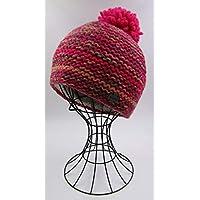 ドイツ発(MOSHIKI BRAND):レディース POMPOM付きビーニー型ニット帽子:SANKAR