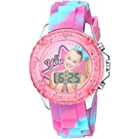 Nickelodeon Girls' Quartz Watch with Plastic Strap, Pink, 16.3 (Model: JOJ4006)